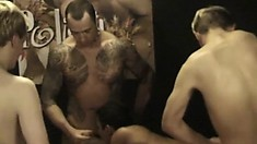 Hot photo session ends in intense bareback anal and oral orgy