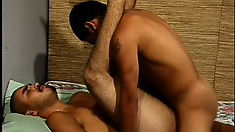 Two horny Latino boys exchange oral pleasures and enjoy hot anal sex