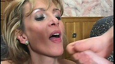 Lusty MILF is eager to bounce on this hunky handyman's love muscle