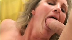 Curly blonde gets her tattooed ass spanked and busted by eager pussy-fucker