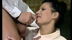 Mike Foster fucks Ursula Moore in the ass after a great blowjob