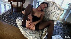 Classic Flick With Energetic Babe That Loves Masturbation With All Her Soul
