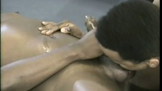 Young black hunk is already a pro at taking man meat up his ass