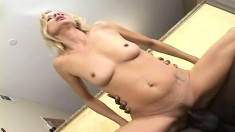 Insatiable MILF can't get enough of this black dude's man meat