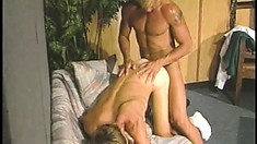 Horny guy Jim Bentley engages in hardcore gay action with his boss
