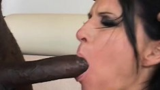 Horny Milf secretary goes for his black dick to eat and fuck for a job