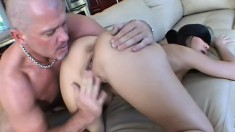 Top-notch young hooker is blind-folded and pricked by wild dude