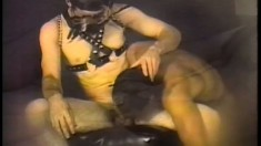 Two vintage male lovers with big hard dicks get rough and dirty